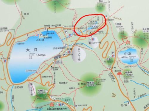 赤城山観光地図