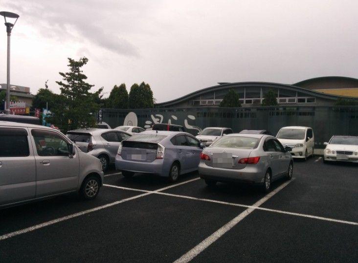 桐生湯らら駐車場