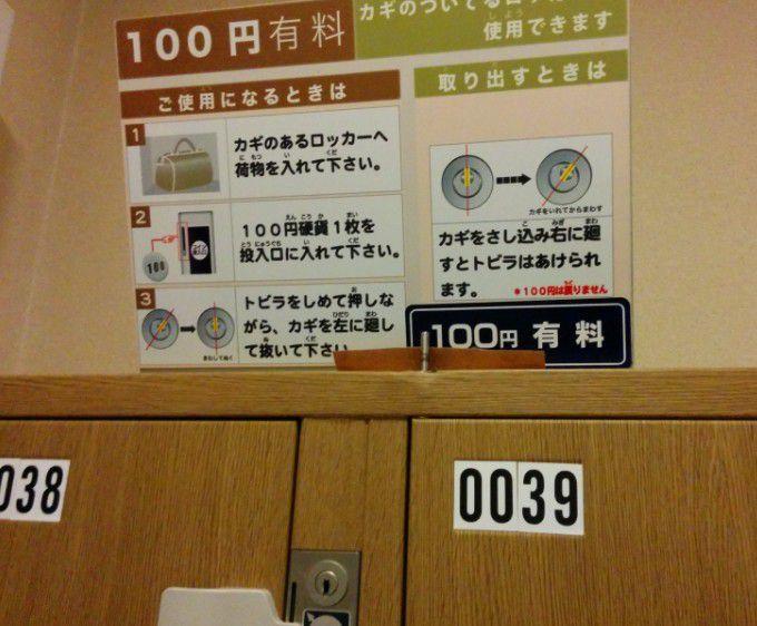 100円コインロッカー