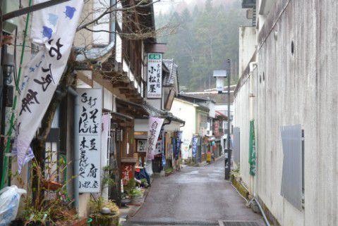 落合通りにある蕎麦屋