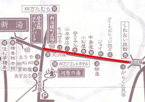 落合通りの地図