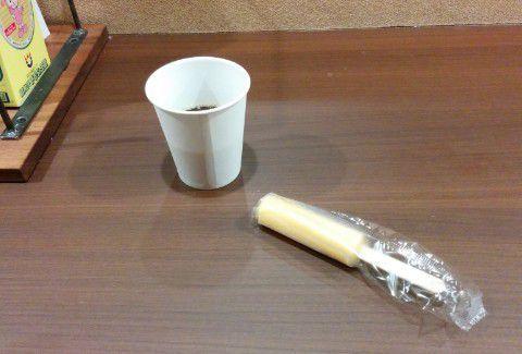 コーヒーとアイスキャンディ