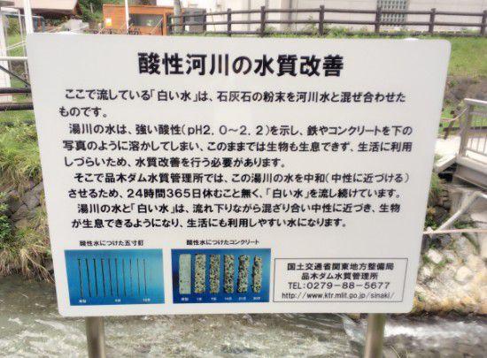 水質改善の掲示
