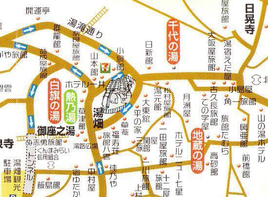 地蔵の湯周辺マップ