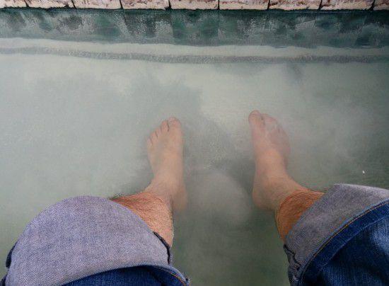 白濁してる地蔵の湯