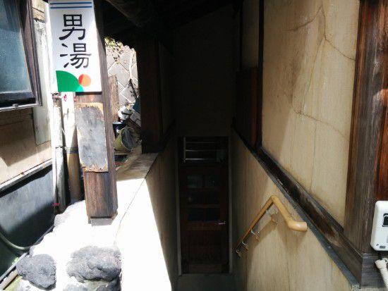 凪の湯男湯入口