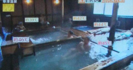 温度の違う5つの湯船