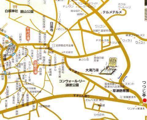 つつじ亭の場所地図