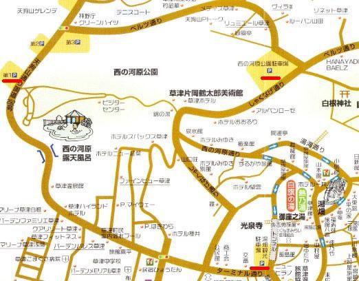 西の河原公園周辺地図
