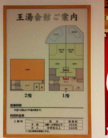 王湯館内マップ