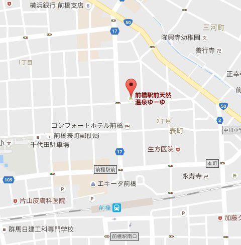 前橋駅周辺地図