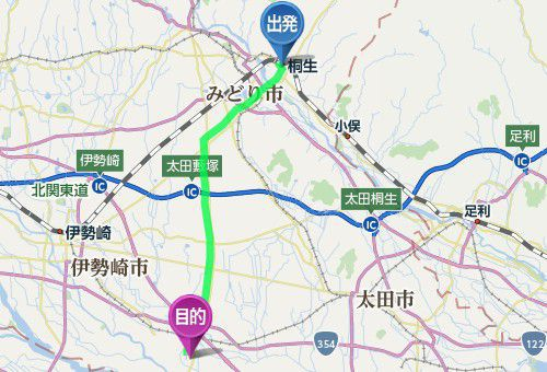 JR桐生駅から世良田東照宮までのアクセス、道のり