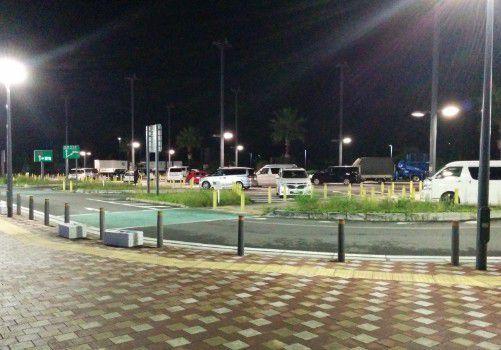 浜松SAの小型車駐車エリア