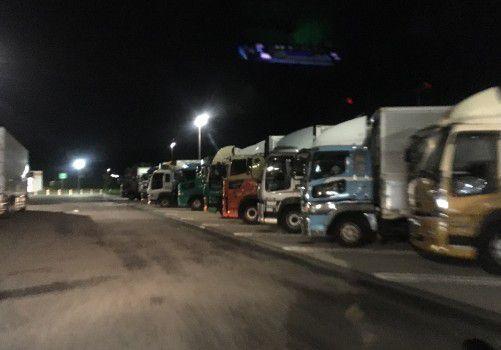 浜松SAの大型車駐車エリア