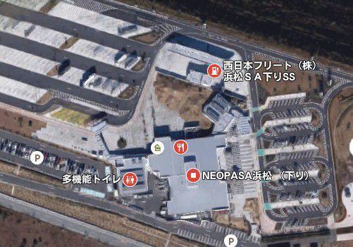 グーグルアースで見た浜松SA