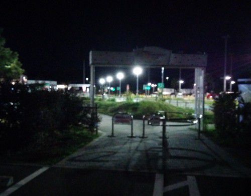 一般道側と高速側の出入り口