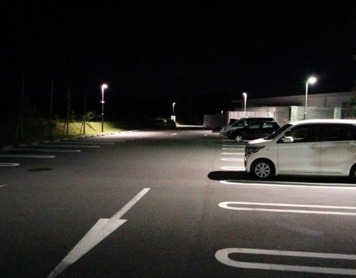 浜松SA一般道側の駐車場