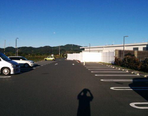 朝の第一駐車場