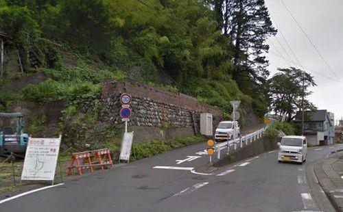 二俣城に向かう分岐路
