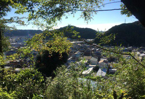 二俣城上り坂からの眺め