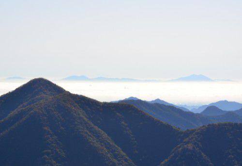 雲海と筑波山