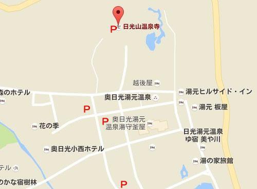 温泉寺の場所と駐車場の地図