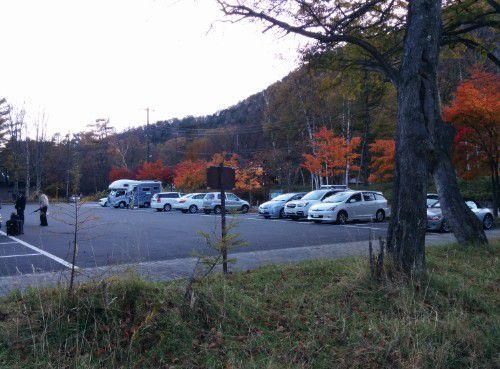 日光湯元温泉の無料駐車場