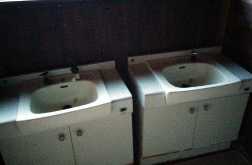 脱衣所にある洗面台