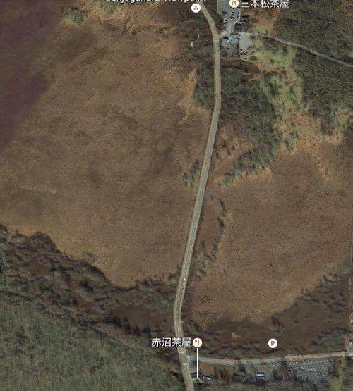 グーグルアースで見た戦場ヶ原の広さ
