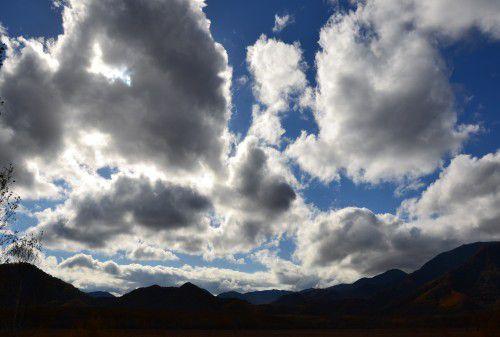 戦場ヶ原の雲の流れ