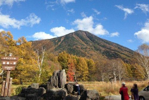 戦場ヶ原から見える男体山