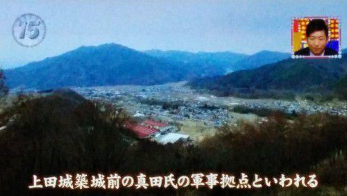 真田氏本城跡から見た上田市街地