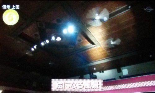 上田映劇の天井
