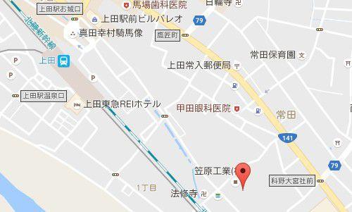 笹原工業 旧常田館製糸場の場所