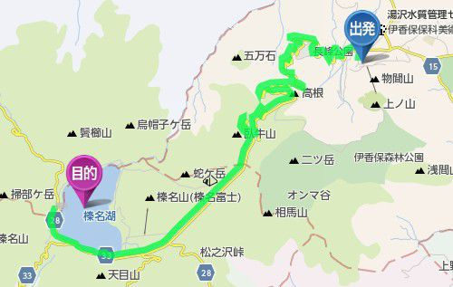 伊香保温泉から榛名湖までのアクセス