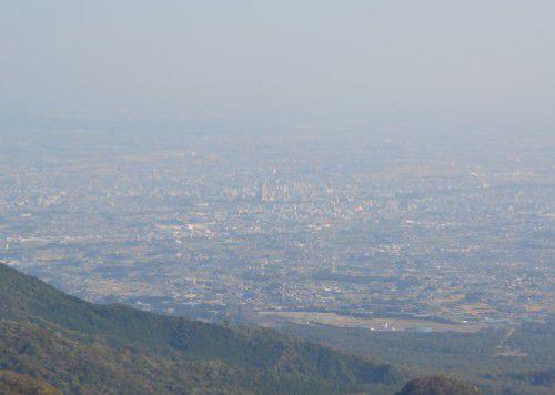 榛名山ロープウェイ展望台からの前橋市街地の眺め