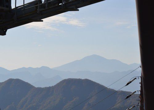 榛名山ロープウェイ展望台からの眺めの浅間山