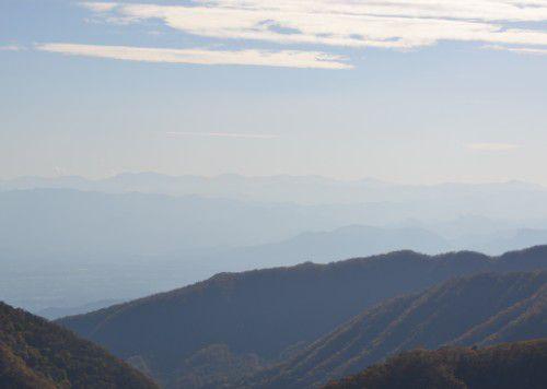 榛名山ロープウェイ展望台からの眺めの筑波山