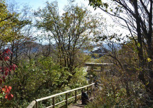 榛名富士山頂からの帰り道