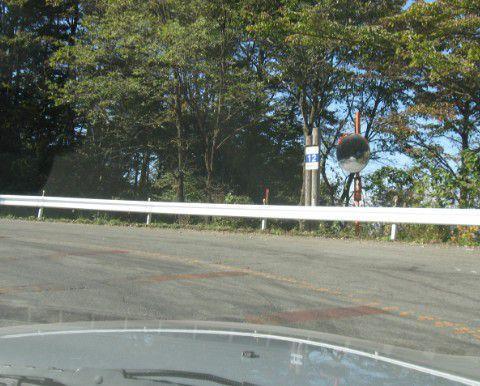 榛名山へ登る道路カーブ12番