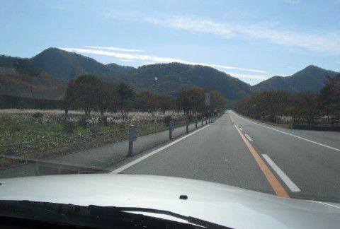 榛名山の直線道路