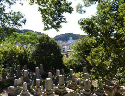 清龍寺から二俣城方面の景色