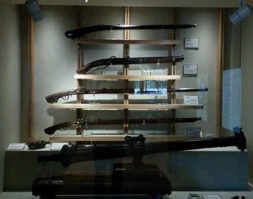 長篠設楽原合戦の間で展示されてる鉄砲など