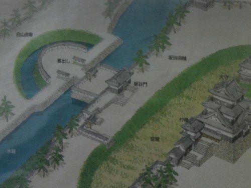 昔の岡崎城の様子のイラスト