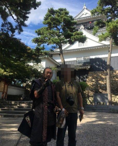 グレート家康公武将隊の榊原康正殿と記念撮影