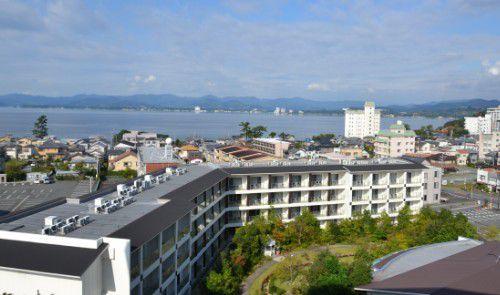 ホテルウェルシーズン浜名湖スカイコート棟客室から見た景色