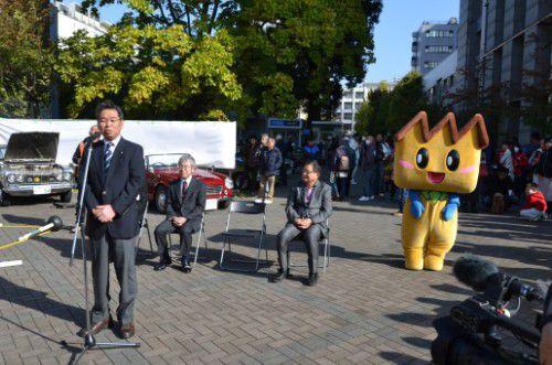 亀山豊文桐生市長の挨拶