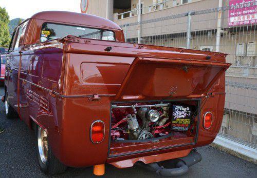 VWタイプⅡダブルキャブのエンジン