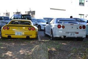 フェラーリとGTR