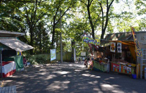 桐生が岡動物園で日曜日に開いていた露店